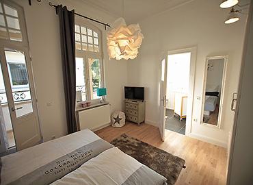 Das Schlafzimmer  in der bel étage